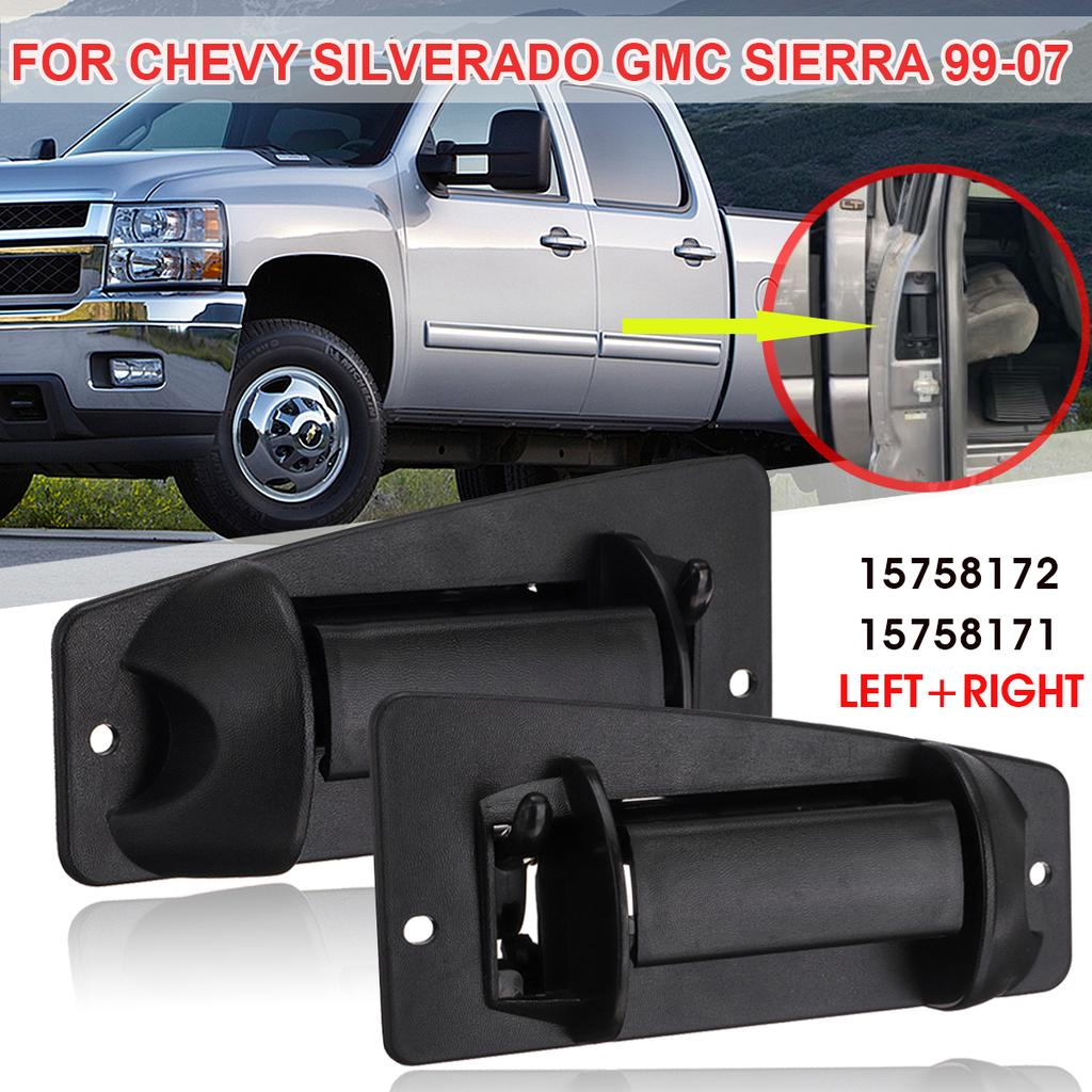 07 SILVERADO Extended Cab Door Jam Handle Pair Set Black SIERRA 99