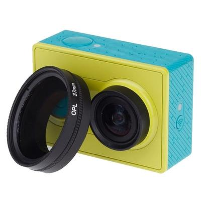Ychaoya Lens Accessories for Xiaomi Xiaoyi Yi II 4K Sport Action Camera Proffesional Foldable Waterproof Colorized Lens Filter with Hexangular Spanner Color : Yellow Red