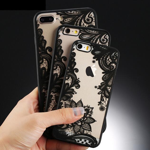 Ультра-тонкий ясно силиконовые цветок узорной случае Обложка для iPhone Apple 6s 7 плюс 8 8 плюс X
