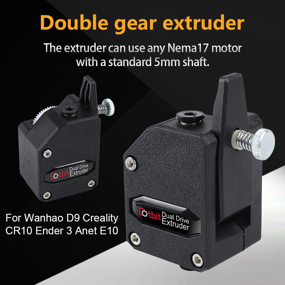 3D Printer Extruder BMG Dual Gear Printing For Wanhao D9 Creality CR-10 Ender3