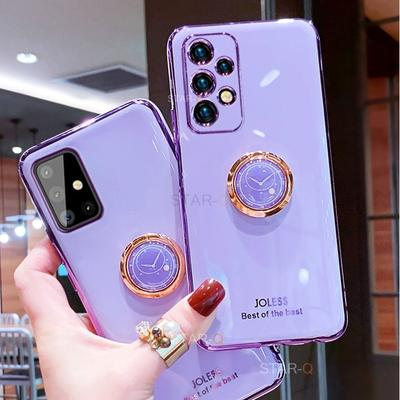 Luxury Plating Ring Holder Phone Case for Samsung Galaxy A72 A52 A32 4g 5g A12 A42 A51 A71 A31 M31 M51 A21s Stand Silicone Cover