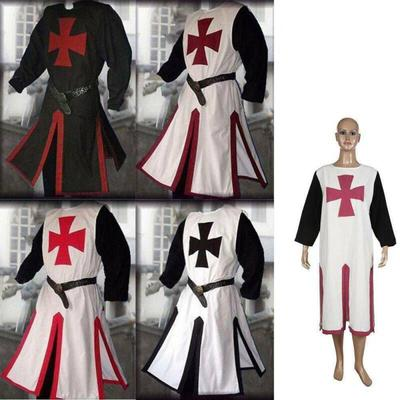 MEDIEVAL White TEMPLAR KNIGHT Tunic Surcoat Without Sleeveles Renaissance