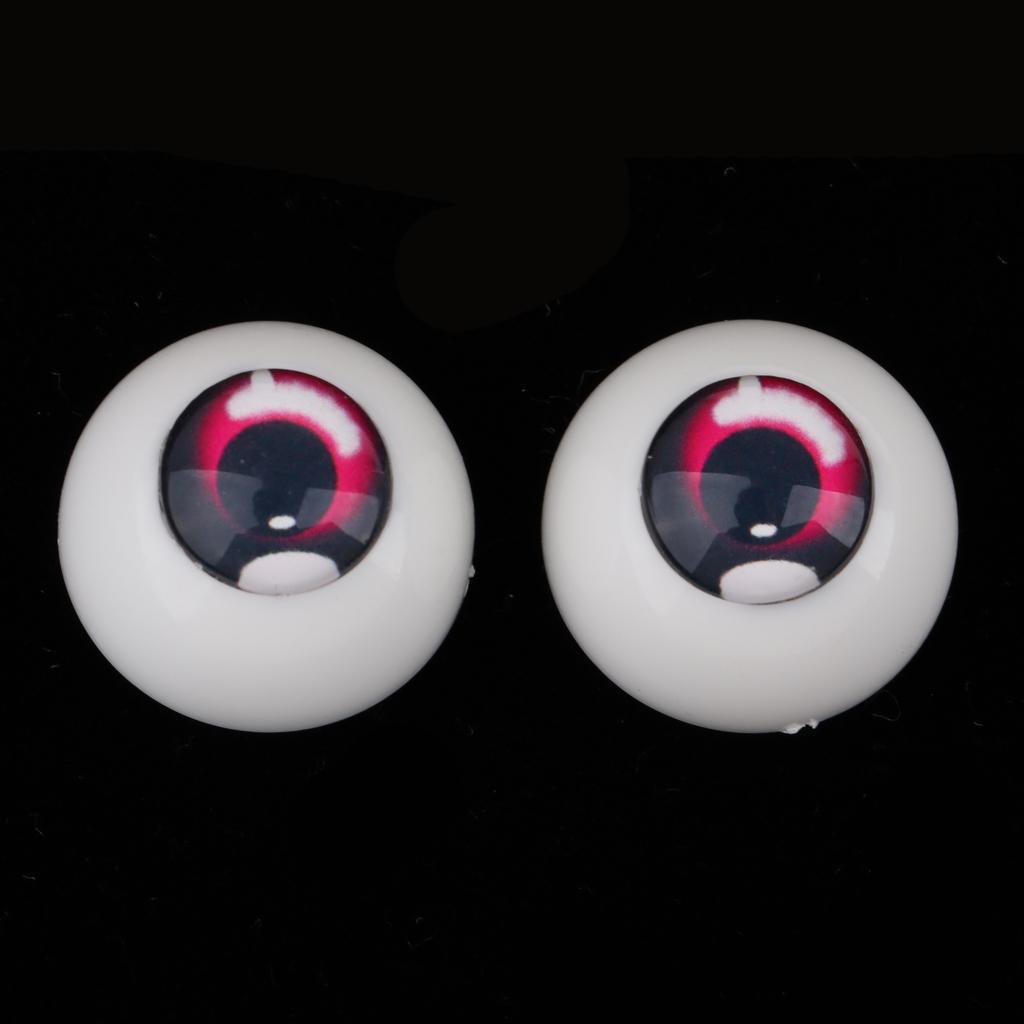 Safety 18mm Eyes Acrylic Eyeballs for 1//3 BJD Night Lolita Doll Purple