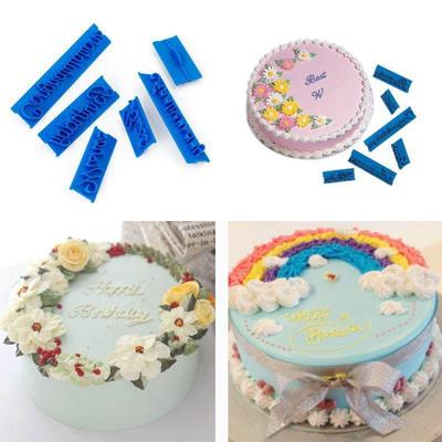 DIY Fondant Cutter Decorating Letter Sugarcraft Mould Cake Mold Happy Birthday