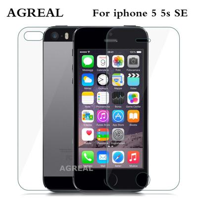 Front + Back Premium Tempered Glass 0.26mm iPhone 5 SE AGREAL Anti-scratch 9H · 4.2Price $8 · Premium HD 9H Tempered Glass Film Front Screen Protector ...
