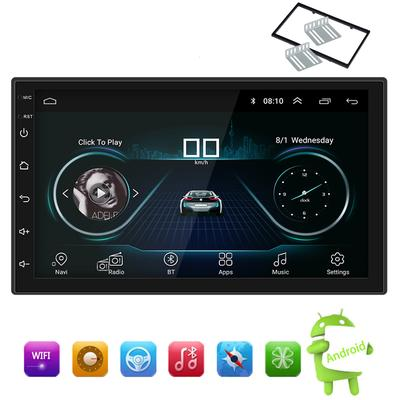 """Car Stereo Radio Audio Receiver Double 2 Din 7/"""" Touch Screen Rear Camera"""
