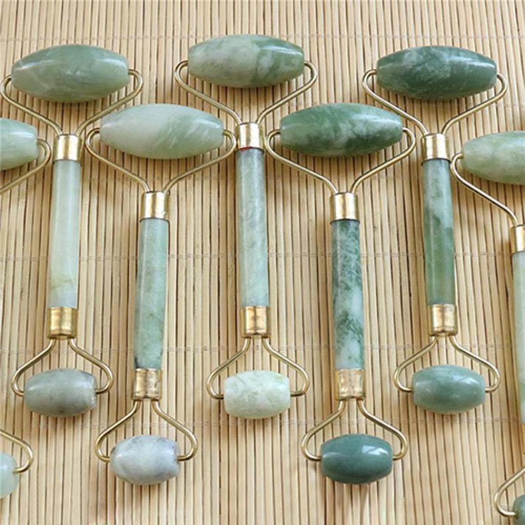 Природные каменные Гуаша красоты лица массаж инструмент лица шеи кожи роликовый массажер – купить по низким ценам в интернет-магазине Joom