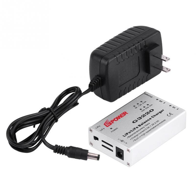 Life Bater/ía RC Drone Accesorio RC Balance Charger 2-3S Alta Precisi/ón G3220 Balance Charger Adapter para LiPo
