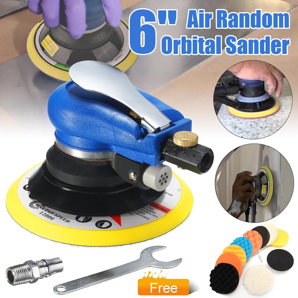 6/'/' Air Random Orbital Palm Sander Dual Action Pneumatic Tool For Auto Body Work