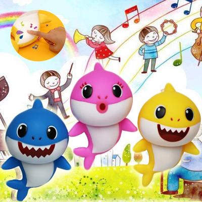 New Lighting and Singing Baby Shark Plush Doll Soft Baby Cartoon Toys  Singing English Song for Kids