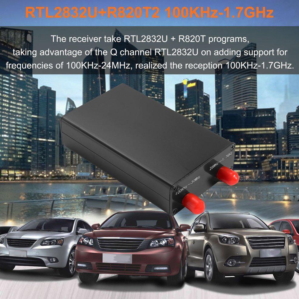 100KHz-1.7GHz RTL-SDR HF SSB Full Band Radio USB Tuner Receiver RTL2832U+R820T2