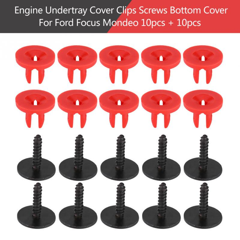 20 Engine Undertray Cover Clips Bottom Screws Shield Guard