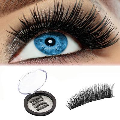 ac4afcc03df 4Pcs Ultra-thin 0.2mm Magnetic 3D Reusable False Magnet Eyelash-buy ...