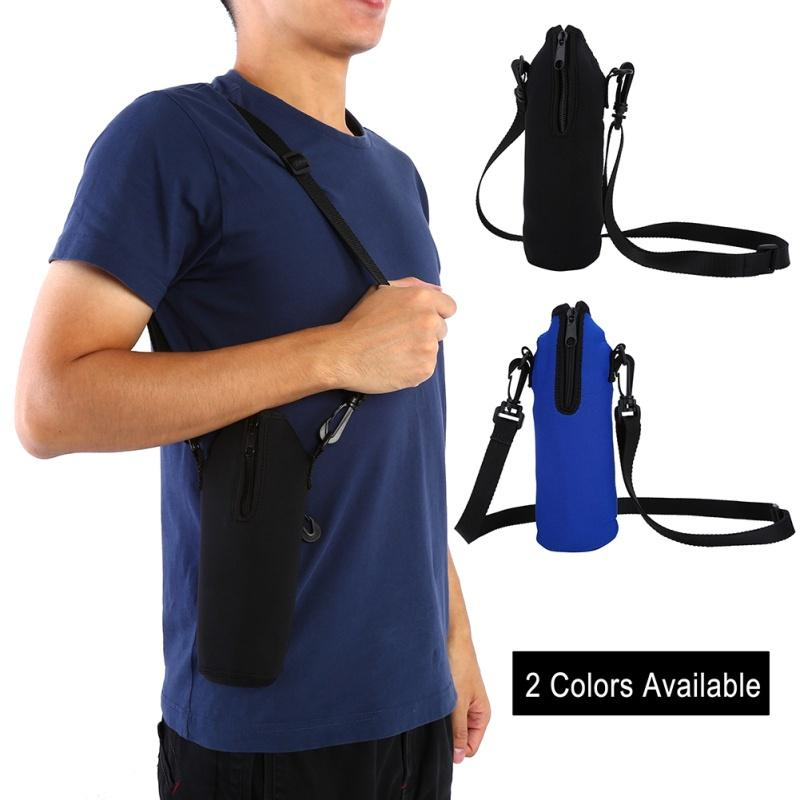 Outdoor Sports Water Bottle Thermal Holder Bag Scald-Proof Case Cover Sleeve 1L