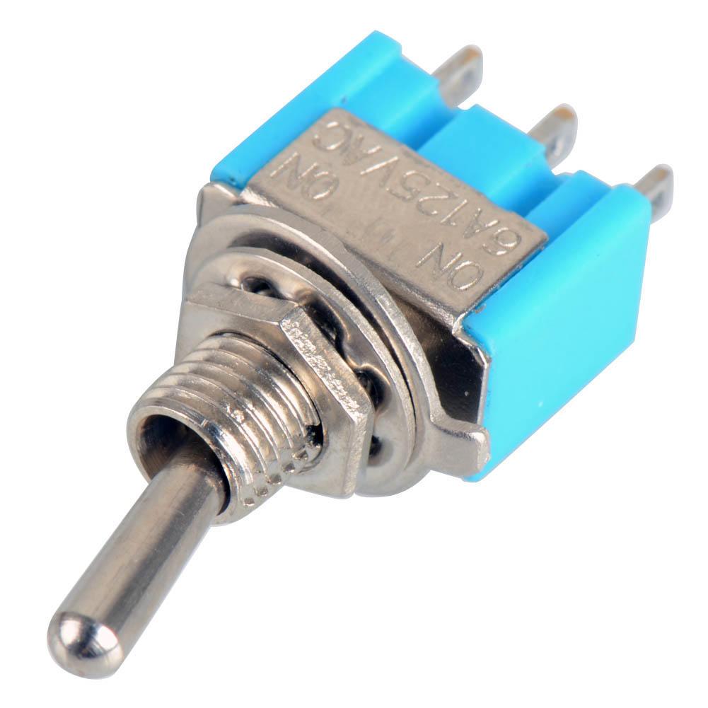 4 Pcs Mini MTS-102 SPDT 3 Pins Toggle Switch AC 6A 125VAC//3A 250VAC ON//ON