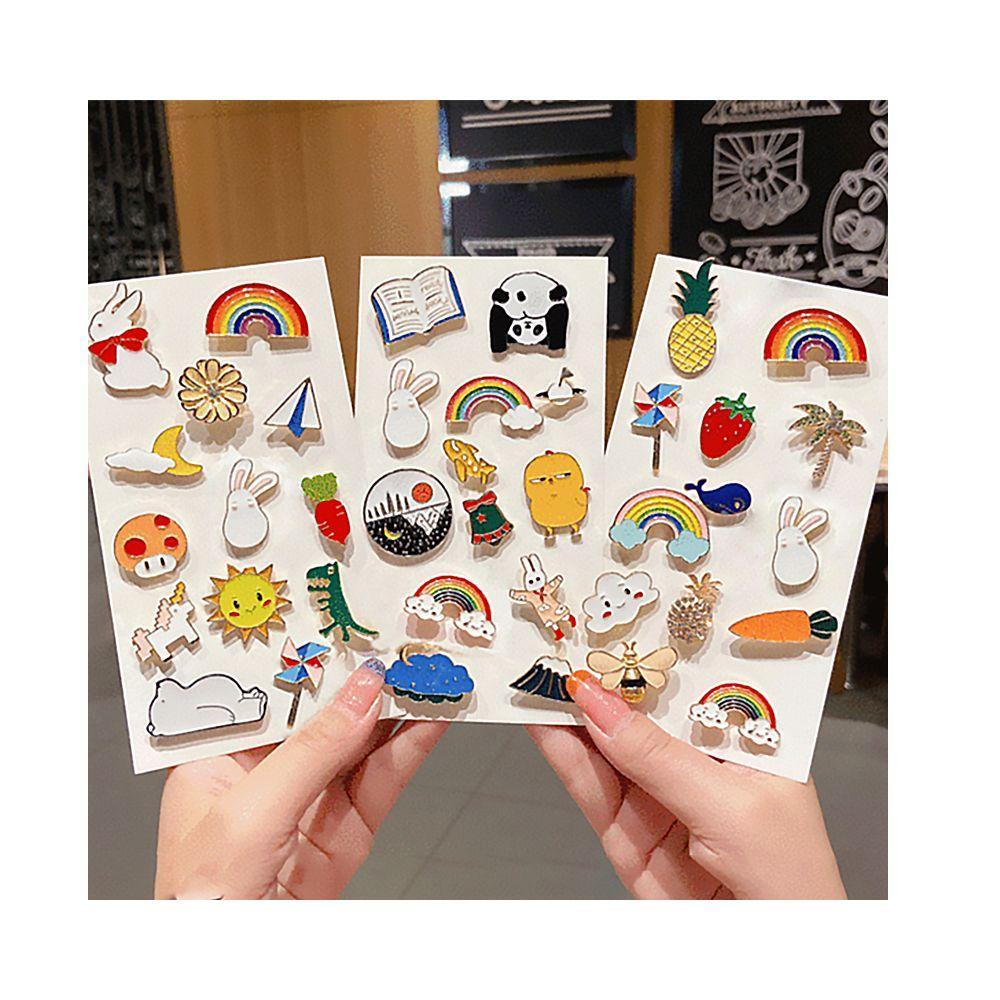 20 PC Creative Badge Accessories Pop Enamel Pin Lapel Brooch Rabbit ...