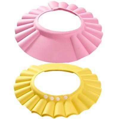 Adjustable Baby Kids Children Shampoo Shield Bathing Shower Wash Hair Cap Hat