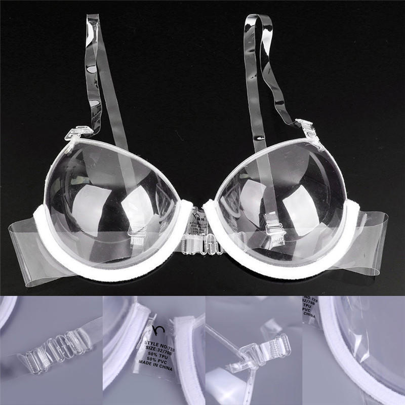 Fashion Transparent Clear Push Up Bra Strap Invisible Bras Women Underwire NeTCL