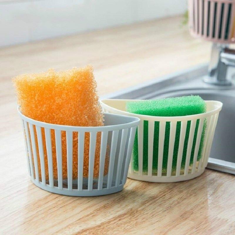 Basket Shelf Spout Holder Sponge Storage  Faucet Rack Kitchen Supplies
