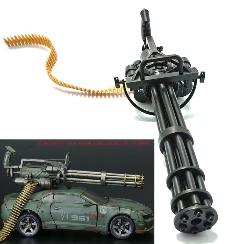 1 6 Action Figure M134 Gatling Minigun T800 Modello di mitragliatrice pesantLO