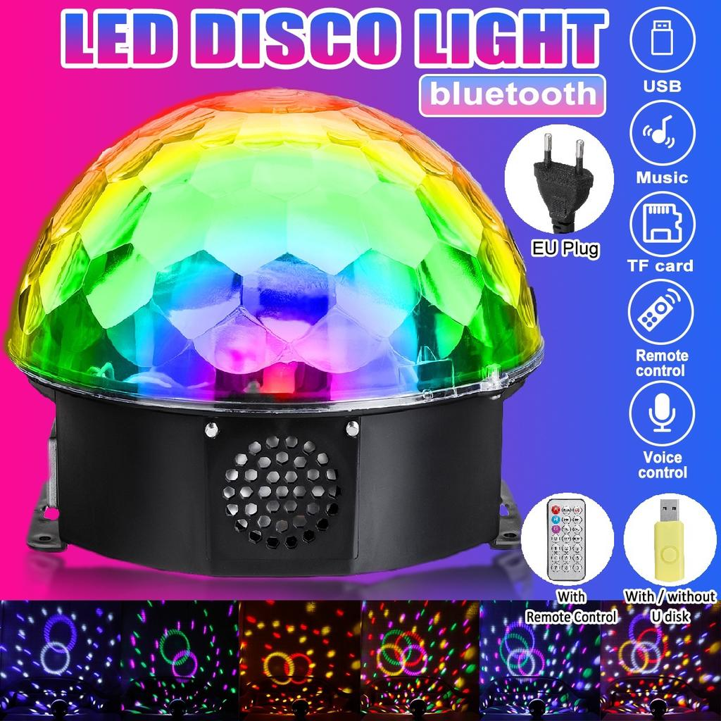 Colorful Sound Activated Disco Ball LED Stage Lights
