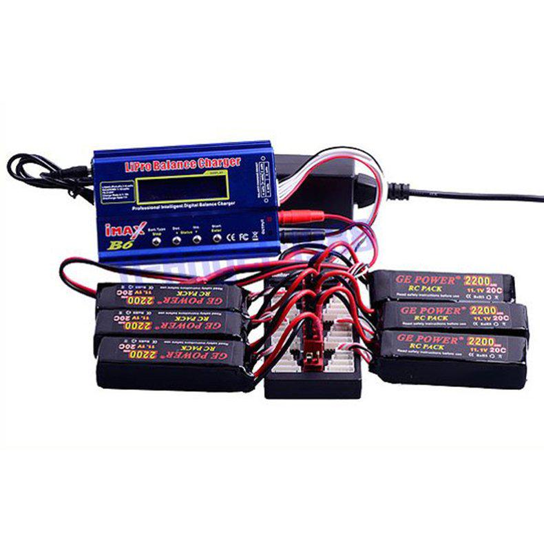 HotRc 2S-6S XT60 Plug Lipo Battery Parallel Charging Board for IMAX B6 Charger N