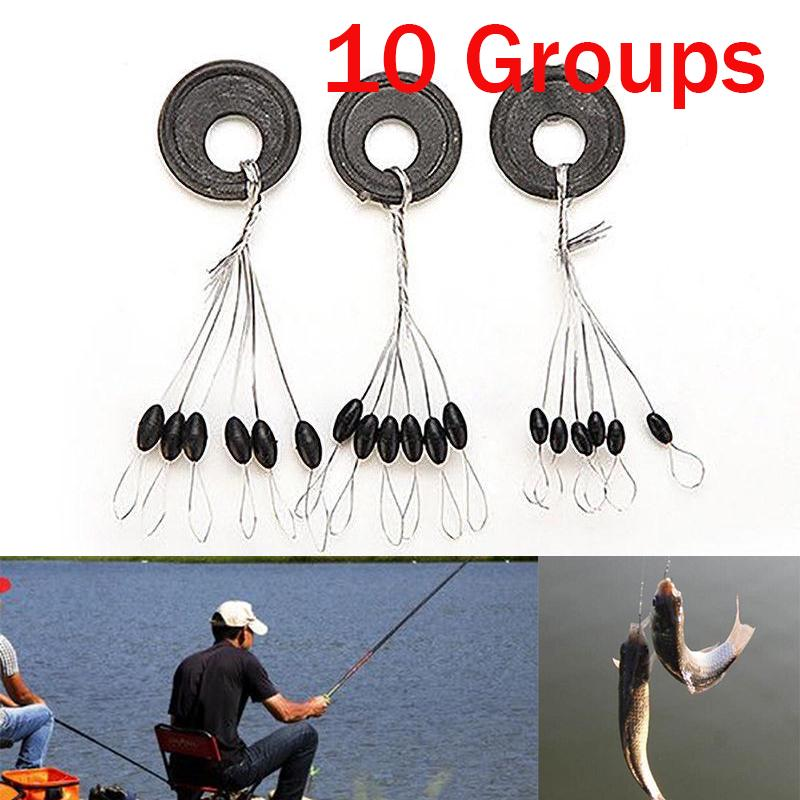 20//10pcs Fishing Bobber Stopper Float Line Shape Olive Stopper Stop Space Bean