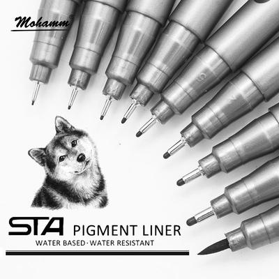 Waterproof  Fade Proof Micron PenTip Fine Liner Black Sketch Water Marker Pen for Manga