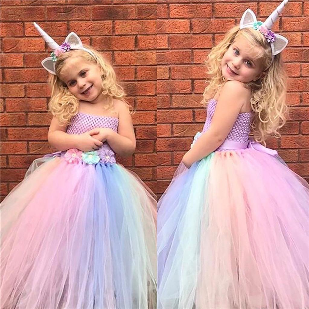 50f3110c8 Colores princesa vestidos bebé niñas cumpleaños Halloween Navidad fiesta  Cosplay traje Tutu faldas - comprar a precios bajos en la tienda en línea  Joom