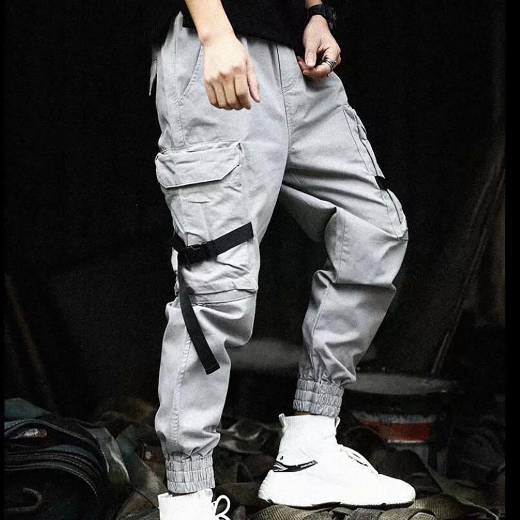 Summer Men's Loose Outdoor Cargo Sports Casual Pants Overalls hip-hop Trousers