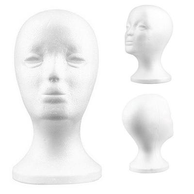 "18.9/"" PVC Mannequin Manikin Head Bust for Wig Hat Necklace Jewelry Display"