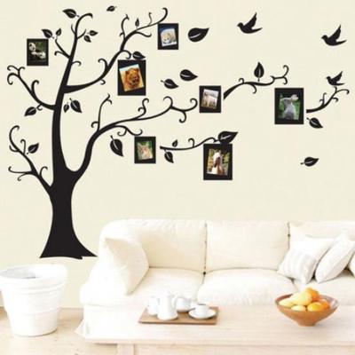 Moda DIY familia foto árbol Pájaro PVC pared calcomanía familia ...