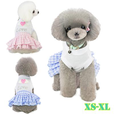Dog Skirts for dogs XS-L Pet Spring And Summer Breathable Fruit Print Skirt Clothing Dog Skirt