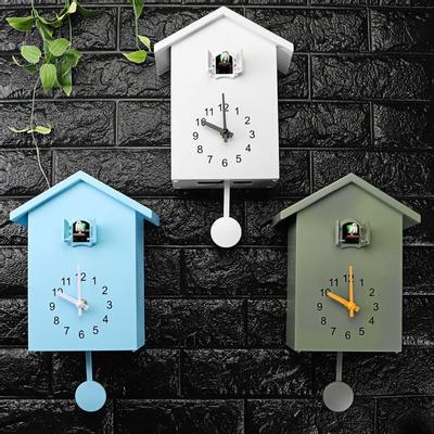 Cuckoo Clock Wall Hanging Bird Integer Time Reported Low Noise 24-hour Sports Pendulum Home Decor
