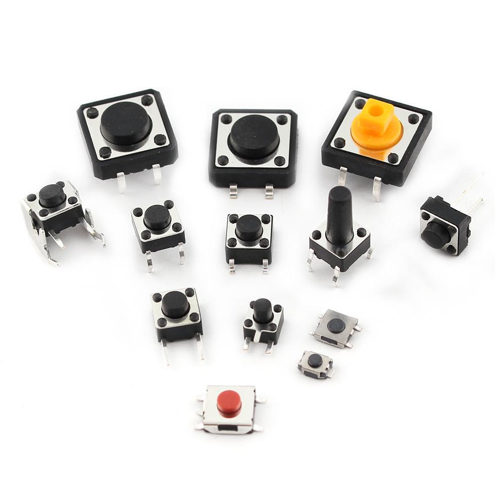 Details about  /25 Values Tactile Push Button Micro Switch Assortment Kit 125PCS 25x5PCS