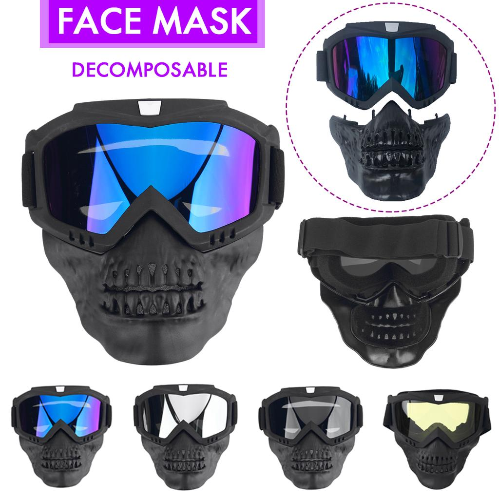 Details about  /Full-Protection Mask For Ski Motocross Bike Goggles Face Respiratory Protection