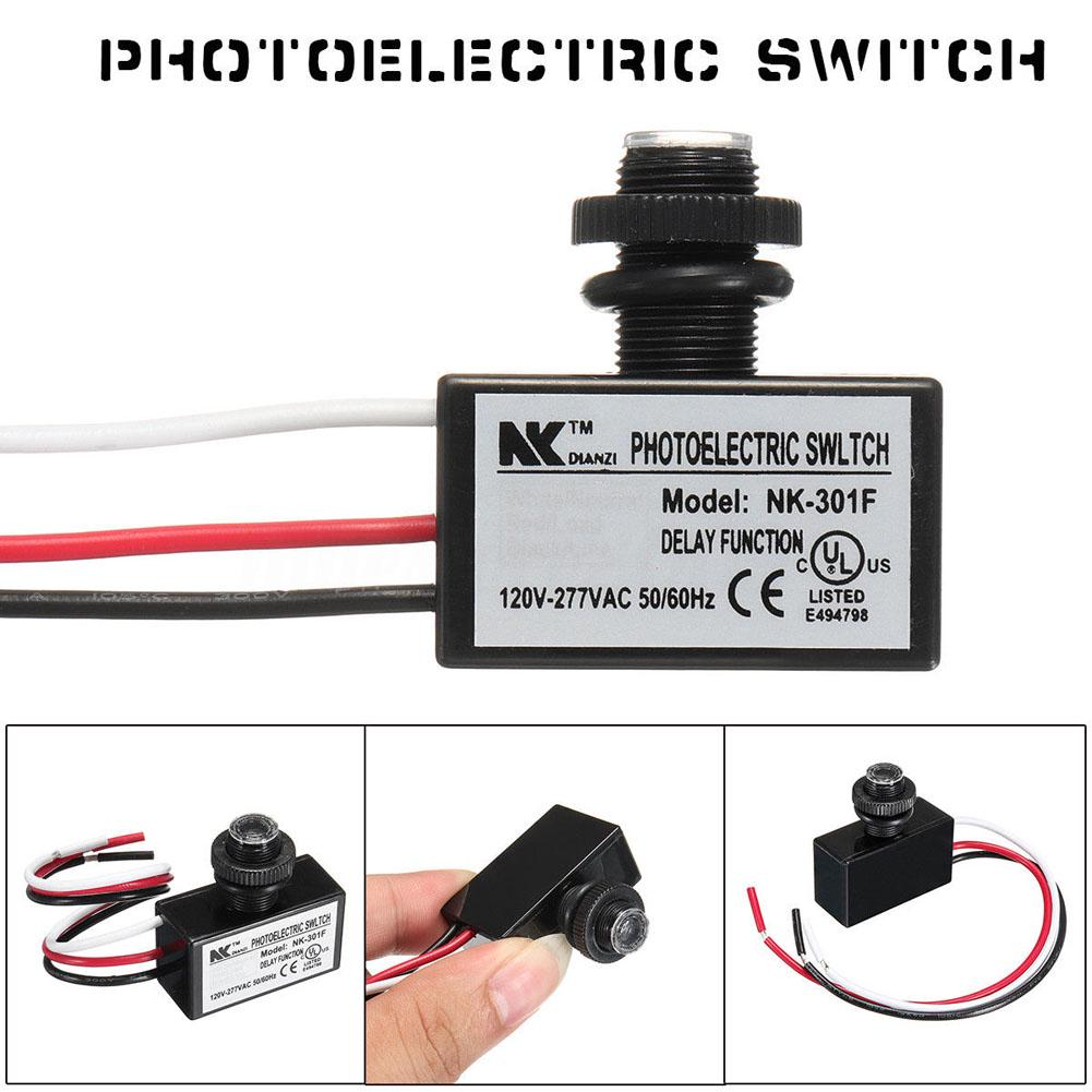 Ac80 277v Photocell Dusk To Dawn Button Photo Control Eye Switch Wiring 277vac 1 Of 6