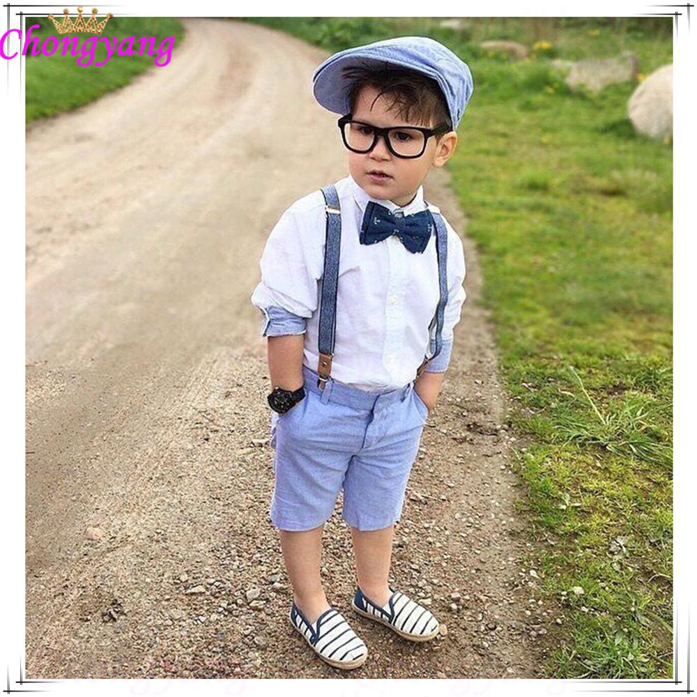 Details about  /Kids Baby Boys Gentleman Outfit Set T-Shirt Tops Pants Wedding Party Formal Suit