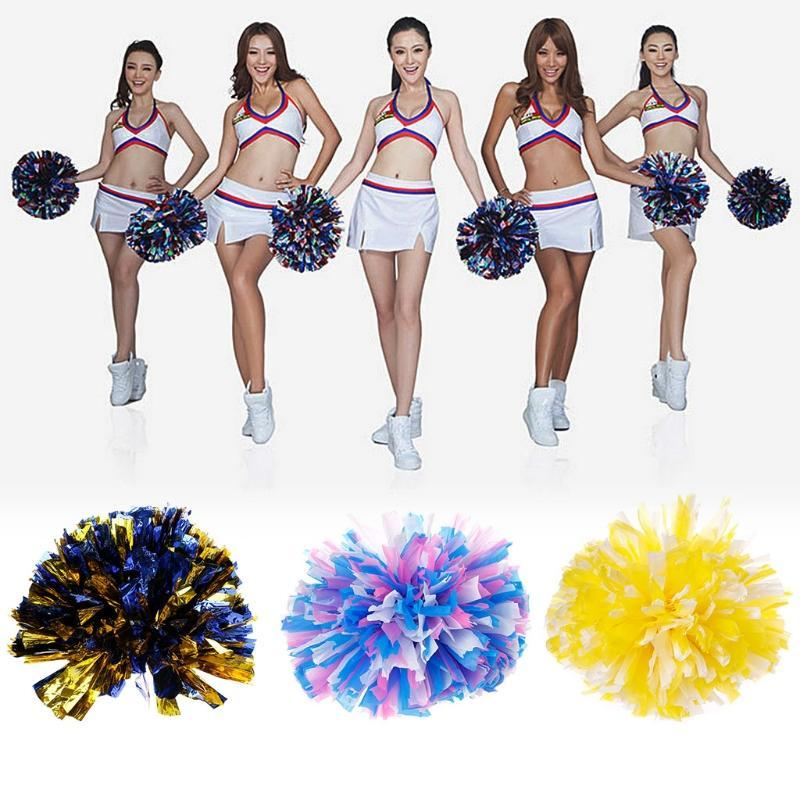 Handheld Pom Poms Cheerleader Cheer Dance Football Club Cheerleading Decor I
