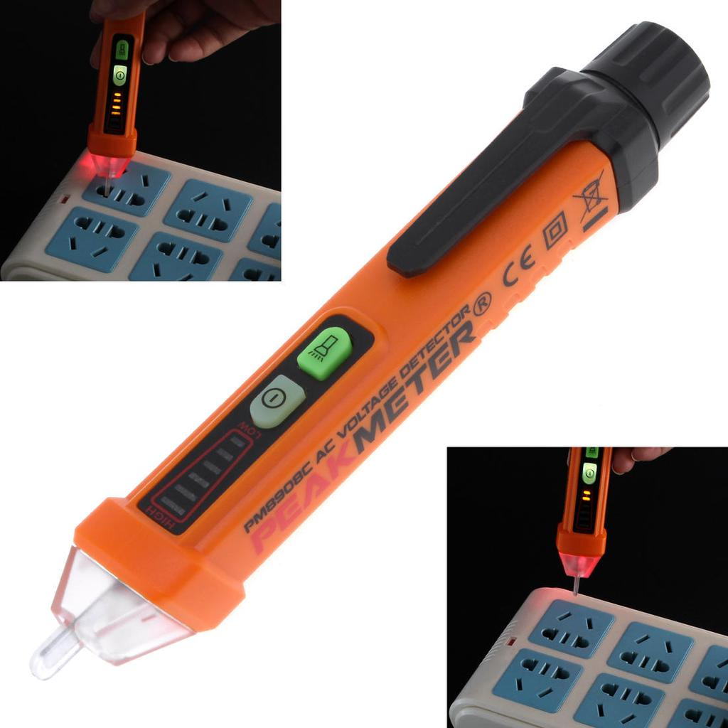 Pm8908c Non Contact Voltage Tester 50 60hz Ac 12 1000v Pen Circuit Detector For Use On Circuits 12v Sale 1 Of 11