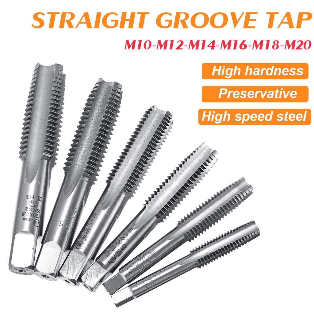 Spiral Point Threading Tap M12 Thread 1.25 Pitch Titanium Coated HSS