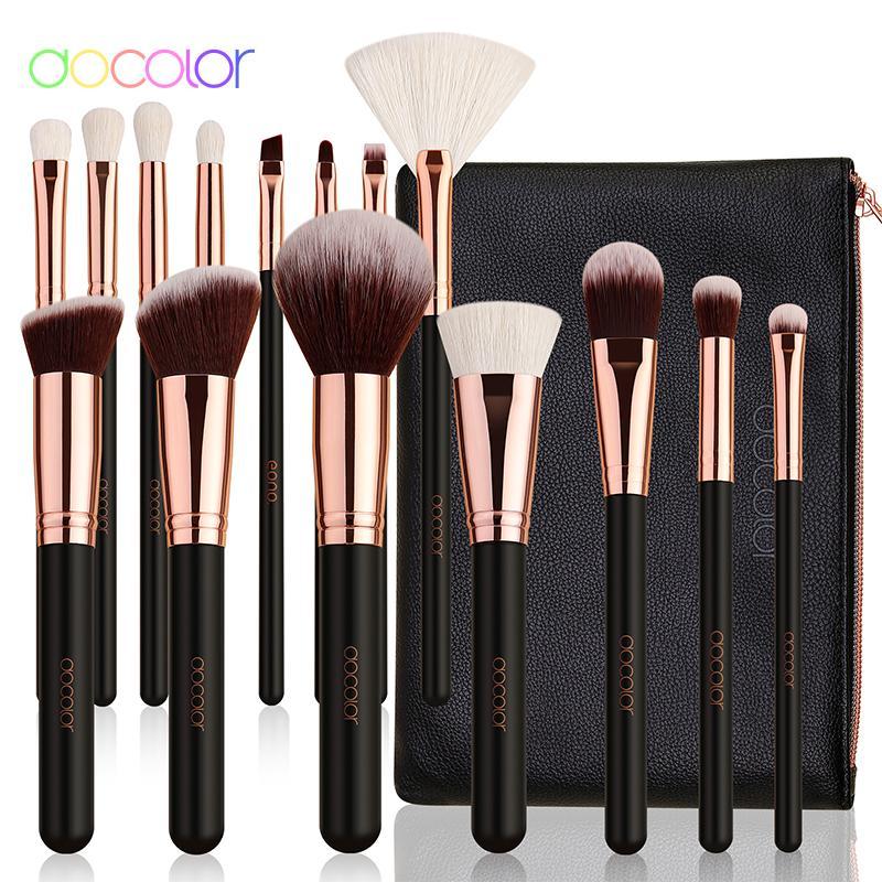 Docolor 15pcs Classic Makeup Brushes