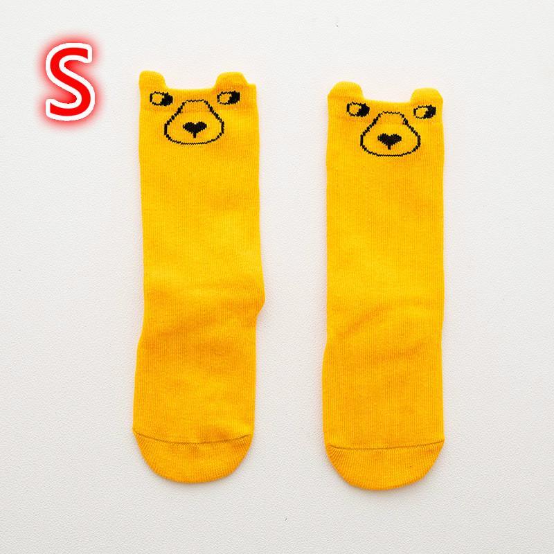 1 par de medias algodón lindo antideslizante polainas de bebé niños calcetines de bebé de la historieta