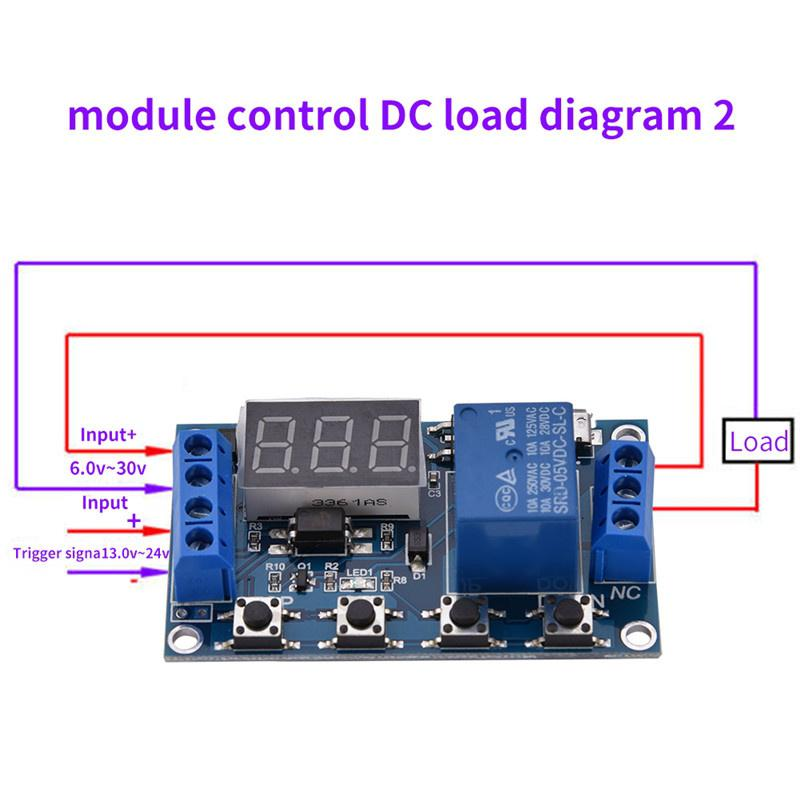 6v-30v Relay Module Switch Trigger Time Delay Circuit Timer Cycle Adjustable  ZP
