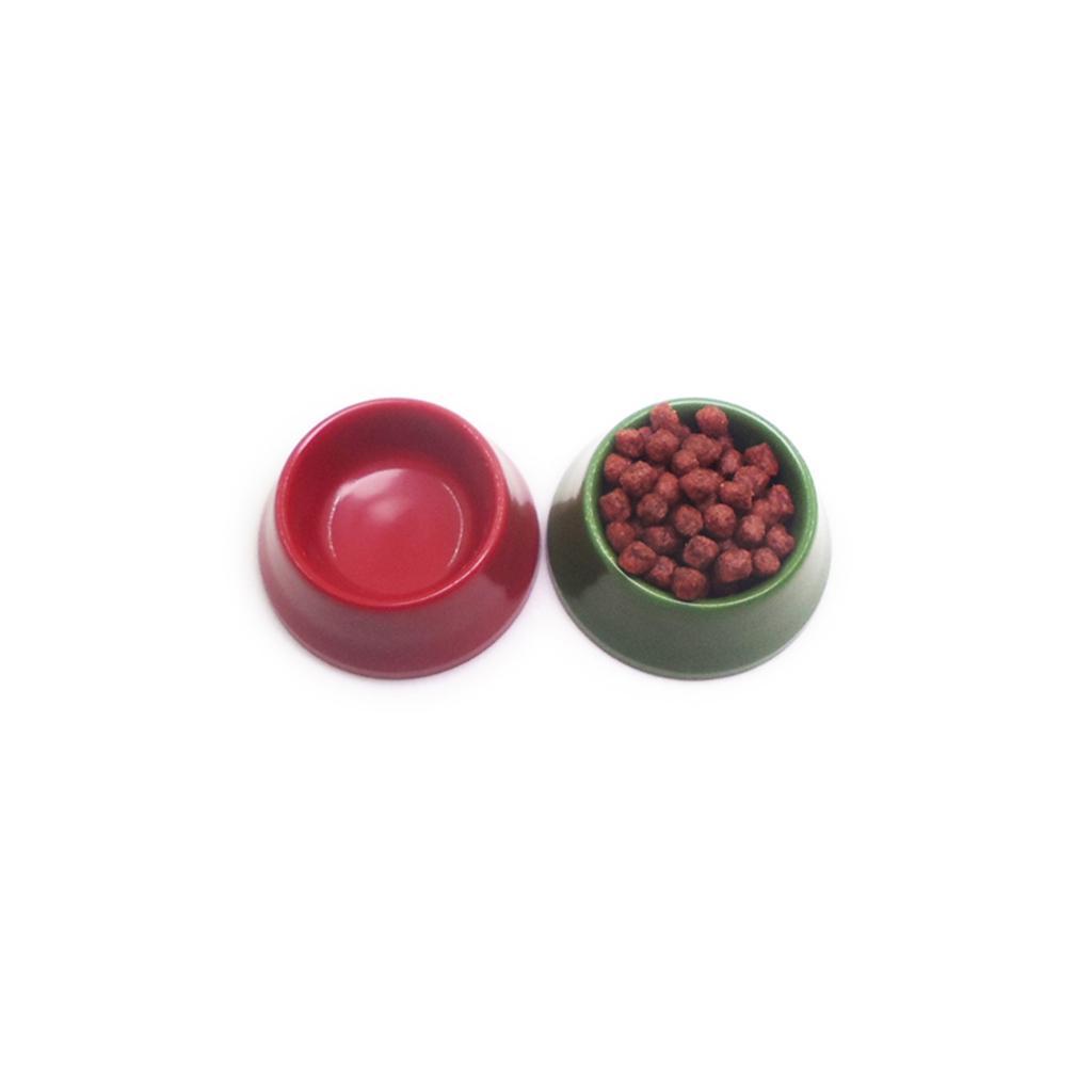 1//12 Dollhouse Miniature Pet Dog Cat Food On Bowl Kitchen Garden Accessory Deco
