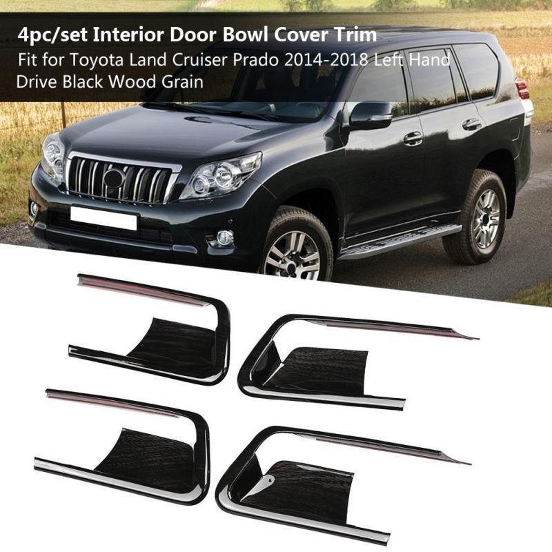 Chrome Interior Inner Door Handle Cover Bowl Catch Trim For Toyota RAV4 2013-18