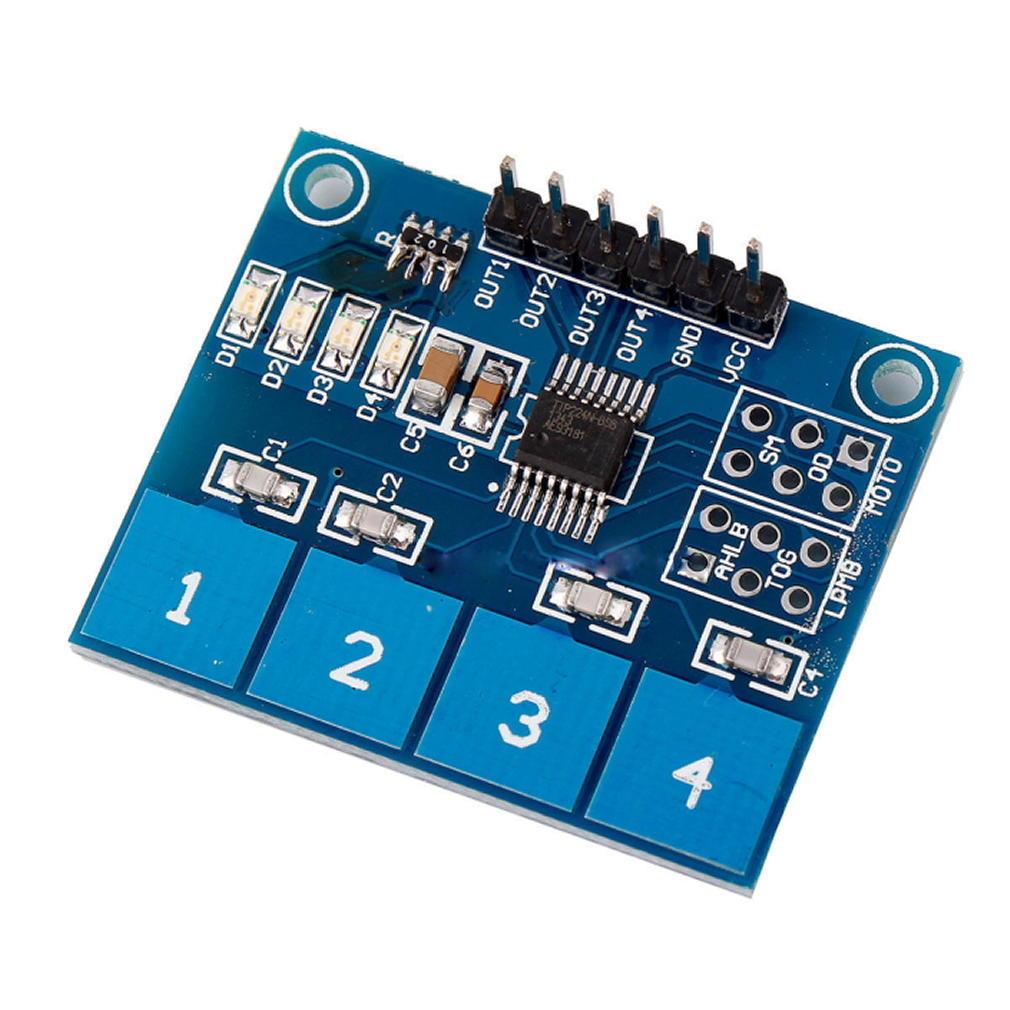 1pc TTP224 kapazitive Touch 4-Wege-Schalter Modul Digital Touch ...