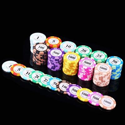 10 Pcs Different Denominations Clay Tablets Texas Game Currency