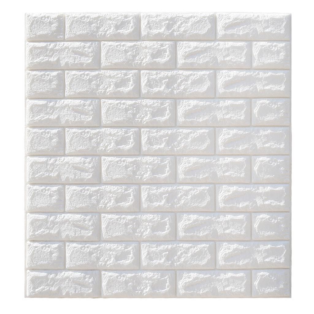 10PCS Foam 3D Tile Brick Wall Sticker DIY Removab Panels Wallpaper Self-Adhesive
