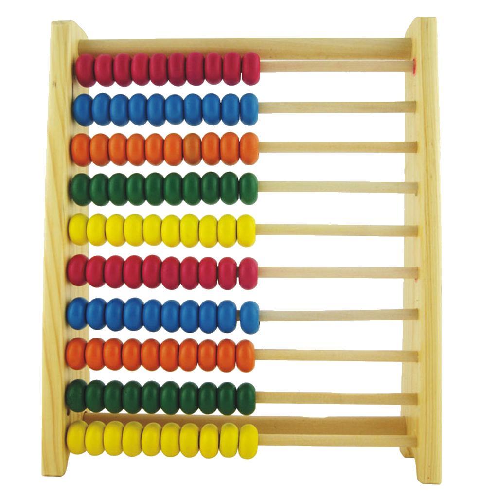 Abacus Matemáticas Aprendizaje De Grande Barras Grano 10 Madera 8nw0mN